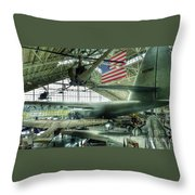 Airplane Era Throw Pillow