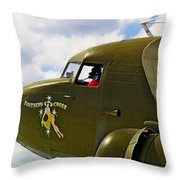 Airplane Named Southern Crosss Throw Pillow