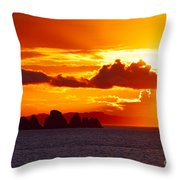 Airplane Over An Island In Newfoundland Throw Pillow