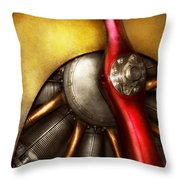 Airplane - Prop - Fine Lines Throw Pillow
