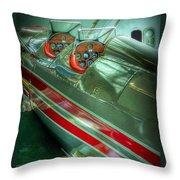 Airplane Vintage Yesterday Throw Pillow