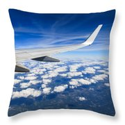 Airplane Wing Throw Pillow