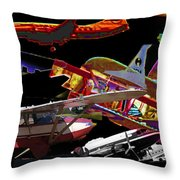 Airplanes Collage  Throw Pillow