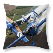 Airplanes Perform At The Sound Of Speed Throw Pillow