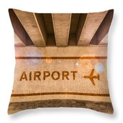 Airport Directions Throw Pillow