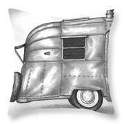 Airstream Vacation Throw Pillow