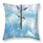 Airy Ace Of Wands Throw Pillow