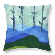 Airy Four Of Wands Throw Pillow