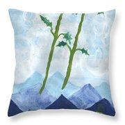 Airy Two Of Wands Throw Pillow