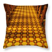Church Aisle Patterned Floor Throw Pillow