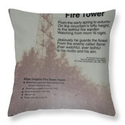 Aiton Heights Fire Tower Throw Pillow