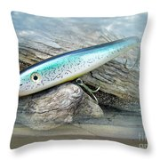 Ajs Baby Weakfish Saltwater Swimmer Fishing Lure Throw Pillow