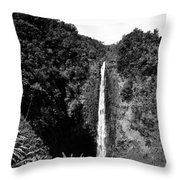 Akaka Falls - Bw Throw Pillow