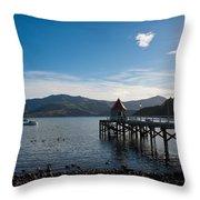 Akaroa Harbour  Throw Pillow