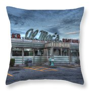 Al Mac's Diner Throw Pillow