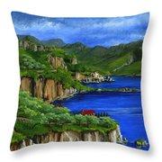 Al Mafi Coast Italy Throw Pillow