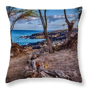 Ala Kahakai Path Throw Pillow