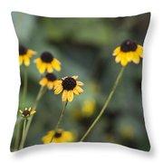 Alabama Black Eyed Susan Wildflowers Throw Pillow