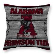 Alabama Crimson Tide Throw Pillow by Joe Hamilton