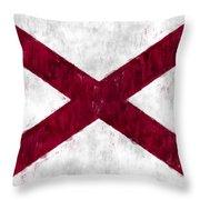 Alabama Flag Throw Pillow
