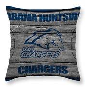 Alabama Huntsville Chargers Throw Pillow