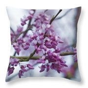 Alabama Redbuds Throw Pillow