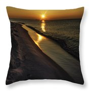 Alabama Sea Cliffs Throw Pillow