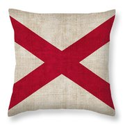 Alabama State Flag Throw Pillow by Pixel Chimp