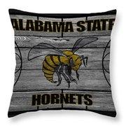 Alabama State Hornets Throw Pillow