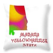 Alabama State Map Collection 2 Throw Pillow