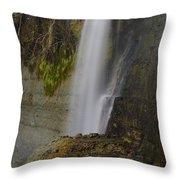 Alabama Waterfall Throw Pillow