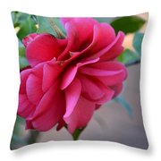 Alabama's Fading Camelia Throw Pillow