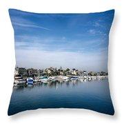 Alamito Bay Marina Throw Pillow