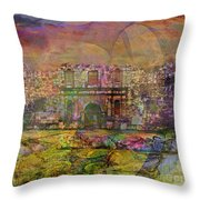 Alamo After The Fall - Square Version Throw Pillow