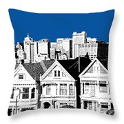Alamo Square -  Royal Blue Throw Pillow