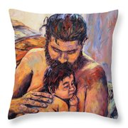 Alan And Clyde Throw Pillow