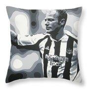 Alan Shearer - Newcastle United Fc Throw Pillow