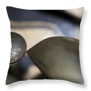 Alarm Bells Macro Throw Pillow