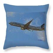 Alaska Air Up And Away Throw Pillow