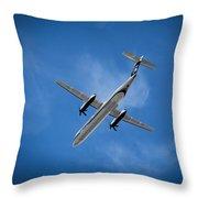 Alaska Airlines Turboprop Throw Pillow
