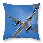 Alaska Airlines Turboprop Wide Version Throw Pillow