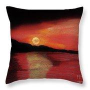 Alaska Sunset Bay Throw Pillow