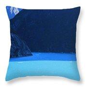 Alaska Rhapsody In  Blue Throw Pillow