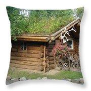 Alaska Building 2 Throw Pillow