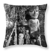 Alaska: Eskimo Grave Throw Pillow