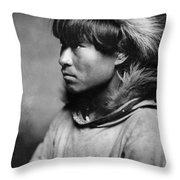 Alaska Eskimo Man, C1906 Throw Pillow