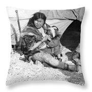 Alaska Eskimos, C1907 Throw Pillow