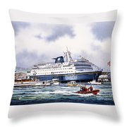 Alaska Ferry Throw Pillow