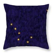 Alaska Flag Throw Pillow