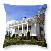 Alaska Governors Mansion Throw Pillow